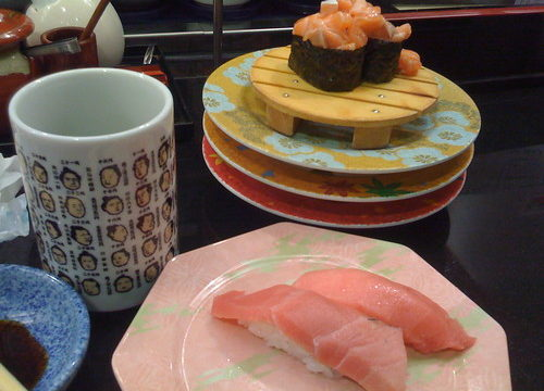 Shinjuku's conveyor belt sushi